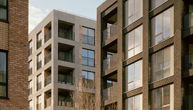 Image by Lyndon Goode Architects showing the proposed building at Fish Island, Hackney Wick