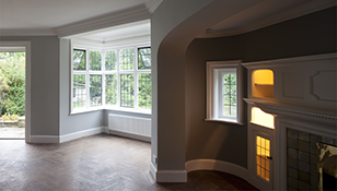 Photograph of refurbished interior, in Chorleywood, by Lyndon Goode Architects